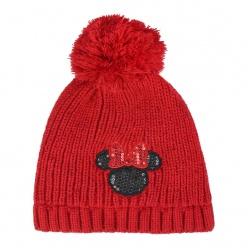 Detská zimná čiapka s aplikáciami MINNIE MOUSE Red Premium ,2200004283