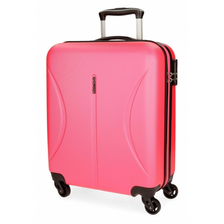 ABS Cestovný kufor ROLL ROAD CAMBOYA Neon Pink, 55x40x20cm, 36L