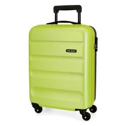 ABS Cestovný kufor ROLL ROAD FLEX Green Neon/Black, 55x38x20cm, 35L