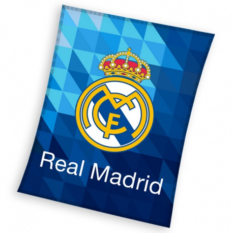 CARBOTEX Flísová deka 150/200cm REAL MADRID Blue, RM182067 CARBOTEX REA1496x
