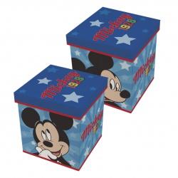 Úložný box s vrchnákom / taburetka  2v1 MICKEY MOUSE
