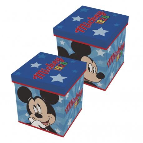 Úložný box s vrchnákom / taburetka  2v1 MICKEY MOUSE, WD13015