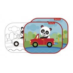 FISHER-PRICE® Slnečná clona pre deti do auta + omaľovánka PANDA