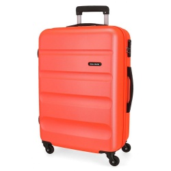 ABS Cestovný kufor ROLL ROAD FLEX Orange Neon, 65x46x23cm, 56L