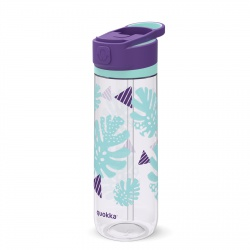 QUOKKA QUICK SIP Športová plastová fľaša s výsuvným sosákom TROPICOOL 830ml, 06963