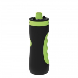 QUOKKA SWEAT Športová plastová fľaša BLACK LIME 680ml, 06970