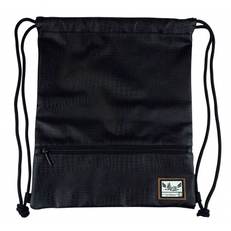 HASH® Luxusné koženkové vrecúško / taška na chrbát  Black Charm, HS-283, 507020033