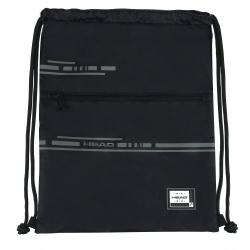 HEAD Luxusné vrecúško / taška na chrbát Smart Black, HD-414, 507020007