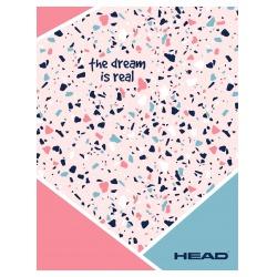 HEAD Pink Terrazzo, Zošit štvorčekový 565 (5x5mm), 60 listov, 102020002
