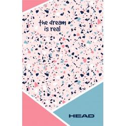 HEAD Pink Terrazzo, Poznámkový blok B5, štvorčekový (5x5mm),160 listov, 101020001
