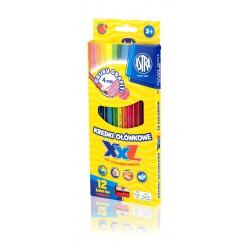 ASTRA Šesťhranné farbičky s XXL tuhou 12ks + strúhadlo, 312120002