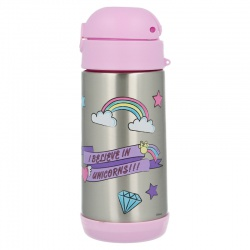 Detská termoska so slamkou MINNIE MOUSE & UNICORN, 360ml, 18860