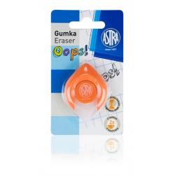 ASTRA OOPS! Ergonomická guma 2v1, na ceruzky aj perá, oranžová, blister, 403120004