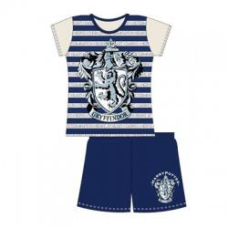 Dievčenské krátke bavlnené pyžamo HARRY POTTER Stripe