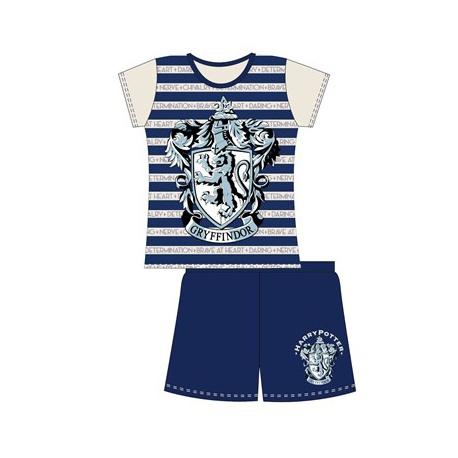 Dievčenské krátke bavlnené pyžamo HARRY POTTER Stripe - 6 rokov (116cm)