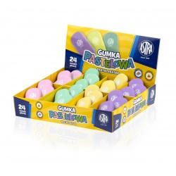 ASTRA PASTEL Ergonomická guma, mix farieb, krabička, 403120001