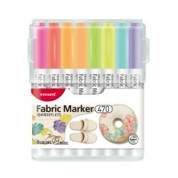 MONAMI® Sada popisovačov na textil FABRIC MARKER 470, Pastel 8ks, 20500055260
