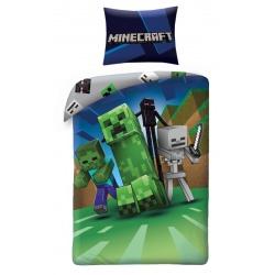 HALANTEX Obojstranné bavlnené obliečky MINECRAFT Monsters, 140/200+70/90, MNC-199BL