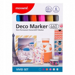 MONAMI® Deco Marker 460, 2mm, sada VIVID, 6ks, 20800015020