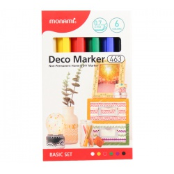 MONAMI® Deco Marker 463, 0,7mm, sada BASIC SET, 6ks, 20800015070