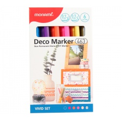 MONAMI® Deco Marker 463, 0,7mm, sada VIVID SET, 6ks, 20800015080