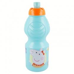Plastová fľaša na pitie PEPPA PIG, 400ml, 13932