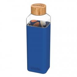 QUOKKA STORM Sklenená fľaša so silikónovým povrchom ABSTRACT GARDEN, 700ml, 40023