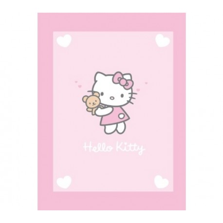 CTI Detská supersoft flísová deka 75/110cm HELLO KITTY Alice CTI France HKI03212