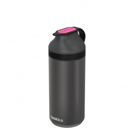QUOKKA MINERAL STEEL Nerezová fľaša / termoska PINK FLUORITE, 335ml, 40300