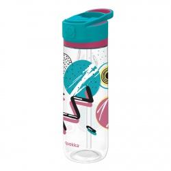 QUOKKA QUICK SIP Športová plastová fľaša s výsuvným sosákom SPACE, 830ml, 06965
