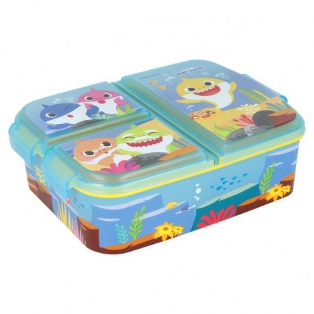 Delený plastový box na desiatu BABY SHARK, 13520