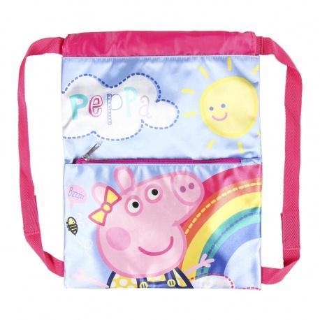 Zaťahovacie  vrecúško / batoh na chrbát PEPPA PIG, 2100003118