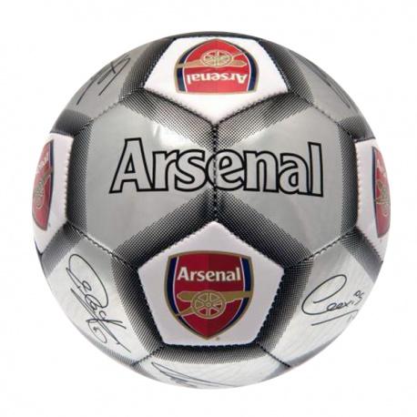 Futbalová lopta ARSENAL F.C. Silver Signature (veľkosť 5)