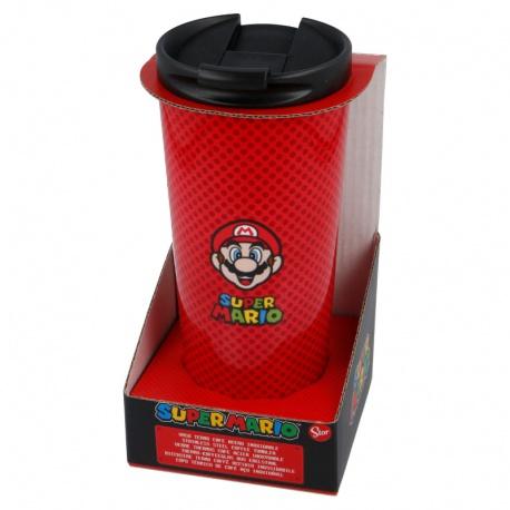 Luxusný nerezový termo hrnček na horúce nápoje SUPER MARIO, 425ml, 00382