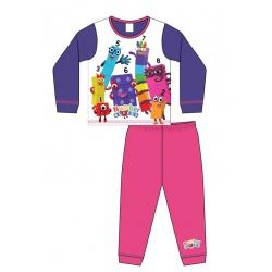 Dievčenské bavlnené pyžamo NUMBERBLOCKS