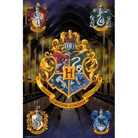 Plagát na stenu HARRY POTTER, Crests, 61/91,5cm, FP3952