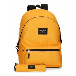 PEPE JEANS® Basic Color Yellow, Študentský batoh + puzdro, 6329221