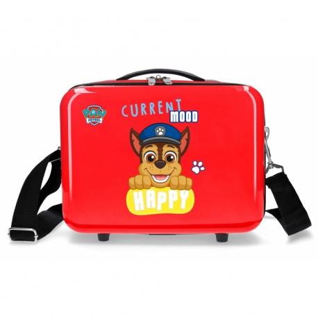 PAW PATROL Red, ABS Cestovný kozmetický kufrík, 21x29x15cm, 9L, 2193922