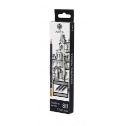ARTEA Umelecká skicovacia šesťhranná ceruzka, tvrdosť 8B, 206119003