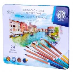 ASTRA PRESTIGE Umelecké akvarelové farbičky z cédrového dreva 24ks + štetec, 312121002