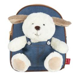 BE MY FRIEND, Detský denimový batoh s odnímateľnou hračkou PSÍK, 13047