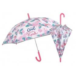 PERLETTI® Detský reflexný automatický dáždnik COOL KIDS Plameniaky, 15575