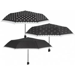 PERLETTI® Skladací dáždnik POLKA DOTS / malé bodky, 12313