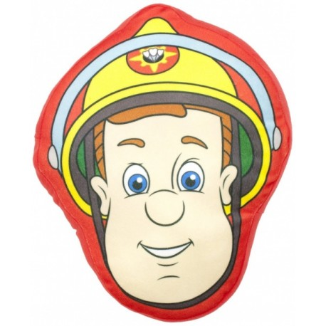 Dekoračný vankúšik 3D FIREMAN SAM Head CHARACTER WORLD® SAM1994