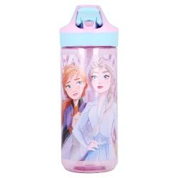 Plastová fľaša s výsuvnou slamkou DISNEY FROZEN Transparent, Tritan 620ml, 51097