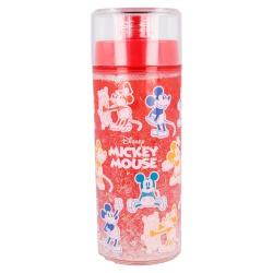 Plastová fľaša s dvojitým plášťom s trblietkami MICKEY MOUSE, 370ml, 60121