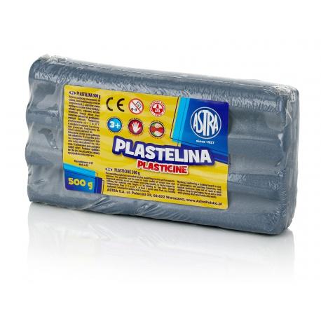 ASTRA Plastelína 500g Metalická Strieborná, 303117015