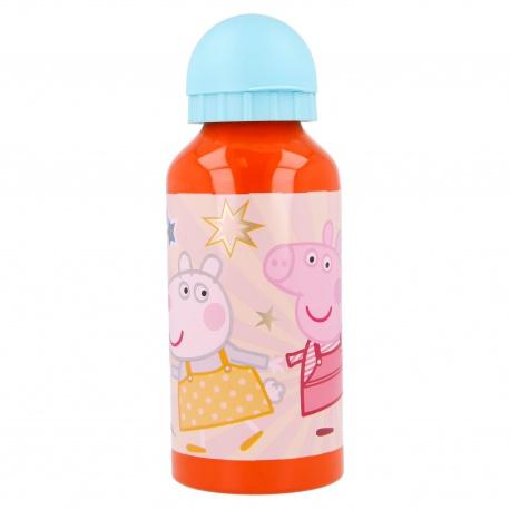 Hliníková fľaša na pitie PEPPA PIG, 400ml, 41234