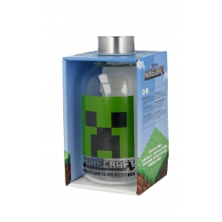 Luxusná sklenená fľaša MINECRAFT 620ml, 00444