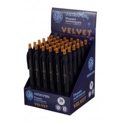 ASTRA VELVET, Guľôčkové pero 0,7mm, modré, stojan, 201121002